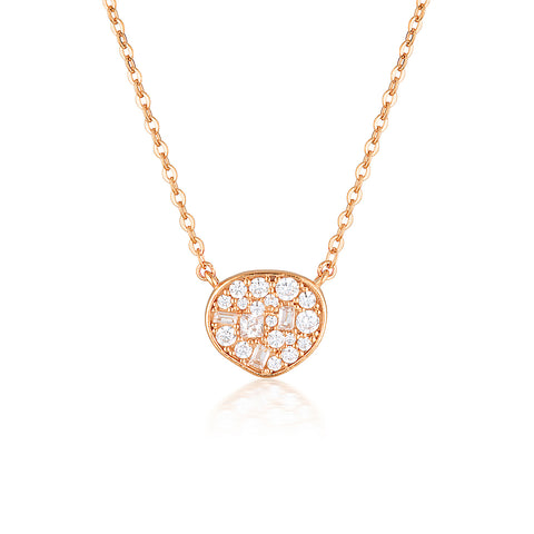 FILI SMALL MOSAIC ROSE GOLD PENDANT
