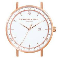 CHRISTIAN PAUL 43MM ALPHA WHITE DIAL & ROSE GOLD CASE - ALP-WHI-RG-43MM