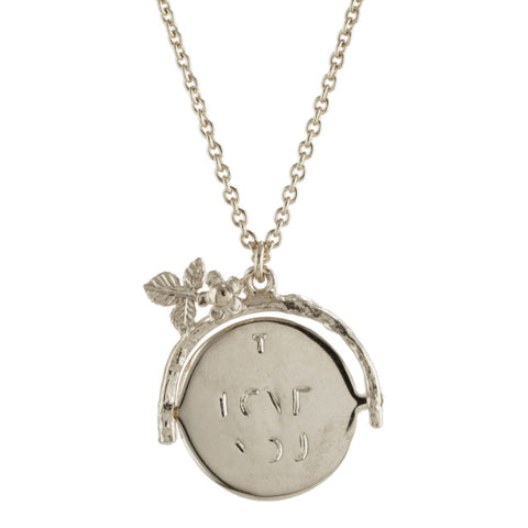 ALEX MONROE I LOVE YOU SPINNER NECKLACE