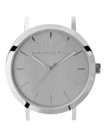 CHRISTIAN PAUL 43MM CAPITAL BRUSHED SILVER DIAL & SILVER CASE - CAP-SIL-SIL-43MM