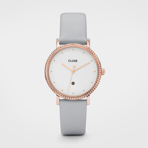 CLUSE LE COURONNEMENT ROSE GOLD/WHITE/GREY WATCH