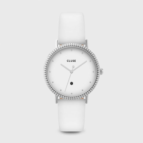 CLUSE LE COURONNEMENT SILVER/WHITE WATCH