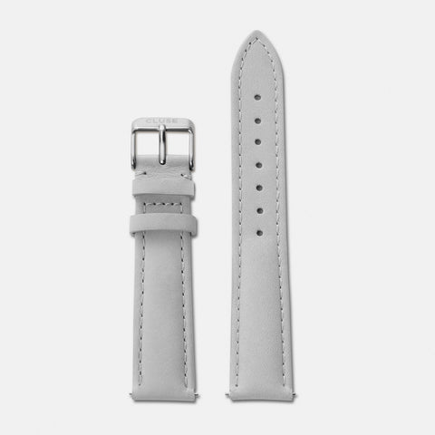 CLUSE GREY LEATHER/SILVER BUCKLE - CLS020
