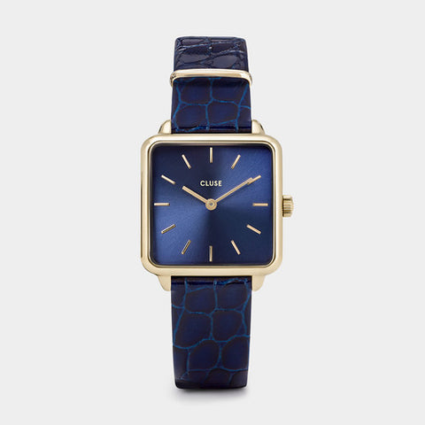 LA TETRAGONE GOLD BLUE/BLUE ALLIGATOR