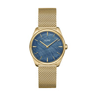 FEROCE PETITE GOLD/BLUE MOTHER OF PEARL MESH