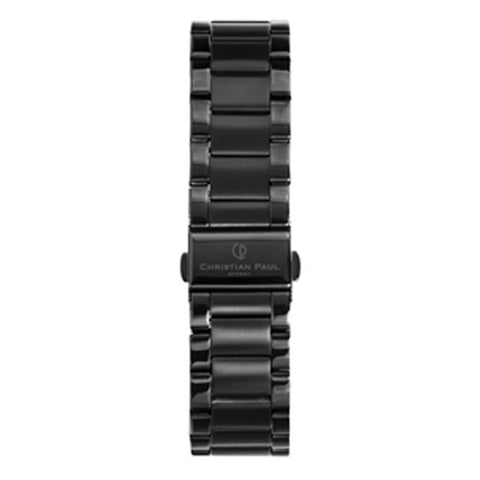 CHRISTIAN PAUL 20MM BLACK LINK STAINLESS STEEL STRAP - LNK-BLK-20MM