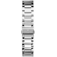 CHRISTIAN PAUL 16MM SILVER LINK STAINLESS STEEL STRAP - LNK-SIL-16MM