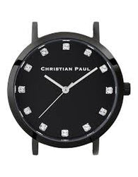 CHRISTIAN PAUL 35MM LUXE BLACK DIAL & BLACK CASE - LUX-BLK-BLK-35MM