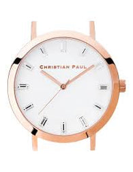 CHRISTIAN PAUL 35MM LUXE WHITE DIAL & ROSE GOLD CASE - LUX-WHI-RG-35MM