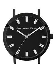 CHRISTIAN PAUL 43MM LUXE BLACK DIAL & BLACK CASE - LUX-BLK-BLK-43MM