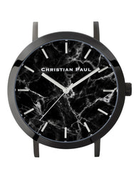 CHRISTIAN PAUL 43MM BLACK MARBLE DIAL & BLACK CASE MAR-BLK-BLK-43MM