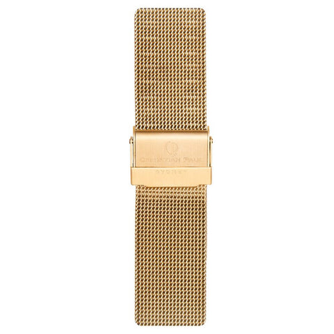 CHRISTIAN PAUL 20MM GOLD MESH STRAP - MSH-GLD-20MM