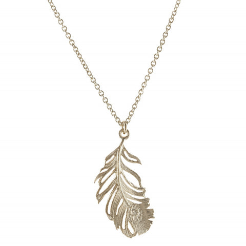 ALEX MONROE PEACOCK FEATHER NECKLACE