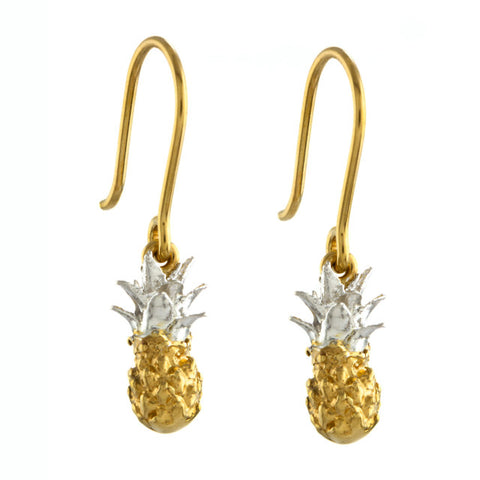 ALEX MONROE BABY PINEAPPLE EARRINGS