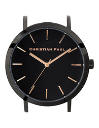 CHRISTIAN PAUL 35MM RAW BLACK DIAL & BLACK CASE - RAW-BLK-BLK-35MM