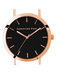 CHRISTIAN PAUL 43MM RAW BLACK DIAL & ROSE GOLD CASE - RAW-BLK-RG-43MM