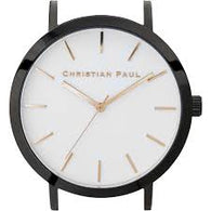 CHRISTIAN PAUL 43MM RAW WHITE DIAL & BLACK CASE - RAW-WHI-BLK-43MM
