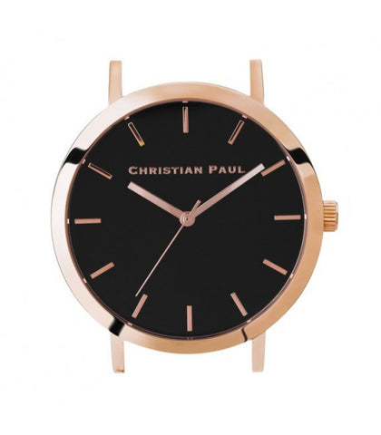 CHRISTIAN PAUL 35MM RAW BLACK DIAL & ROSE GOLD CASE - RAW-BLK-RG-35MM