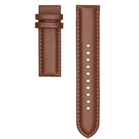 CHRISTIAN PAUL 16MM STITCHED TAN LEATHER STRAP - STLEA-TAN-16MM