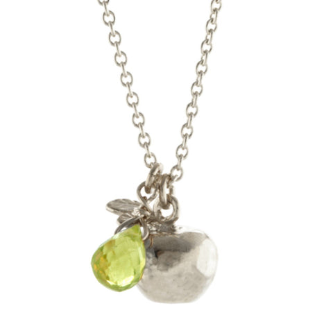 ALEX MONROE BABY APPLE PERIDOT NECKLACE