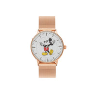 Disney Formal Mickey Rose Gold Mesh Watch