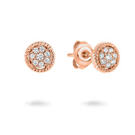 MICA ROSE GOLD EARRING