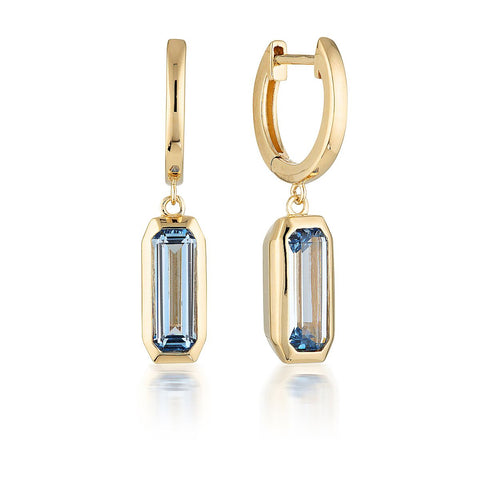 EMILIO BLUE TOPAZ DROP EARRINGS