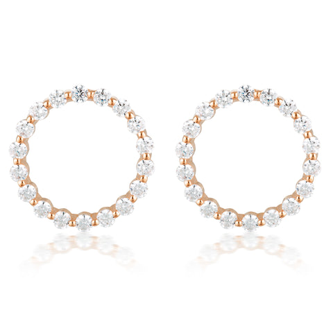 Large Circle Of Life Earring - Rose Gold