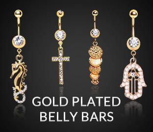 Gold Plated Belly Bars