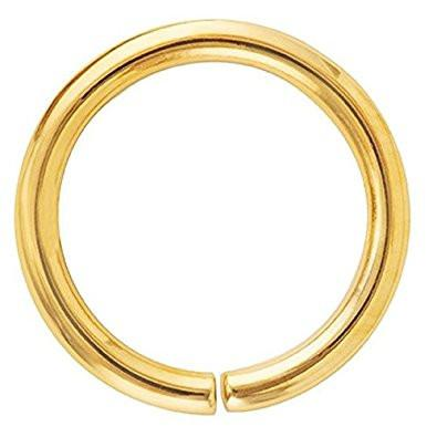 18g Gold Plated Nose Hoop Seamless Ring 8mm 10mm - Pierced n Proud