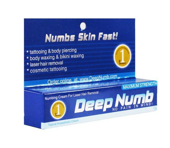 10g Deep Numb Numbing Cream Tattoo Piercing Laser Hair - Pierced n Proud