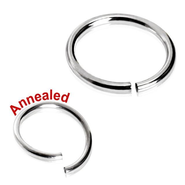 316L Surgical Steel Annealed Seamless Lip Ring