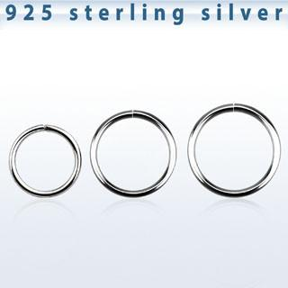 18g Seamless Surgical Steel Silver Nose Rings Hoops - Pierced n Proud