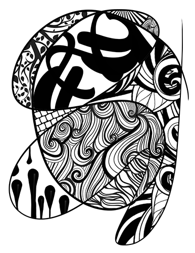 Meditation Series #4 -  Printable Coloring Page