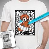 "Just the Tip ""Look the Fuck Around"" Red Panda Color-It Yourself T-Shirt"