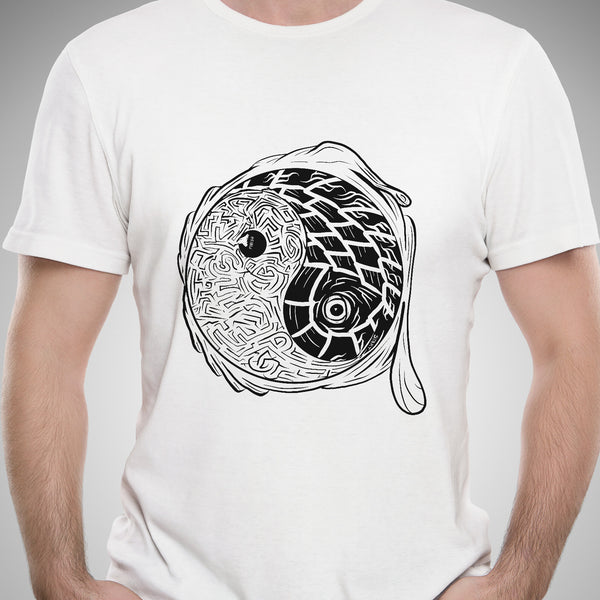 "Just the Tip ""Yin Yang Maze"" Color-It Yourself T-Shirt"
