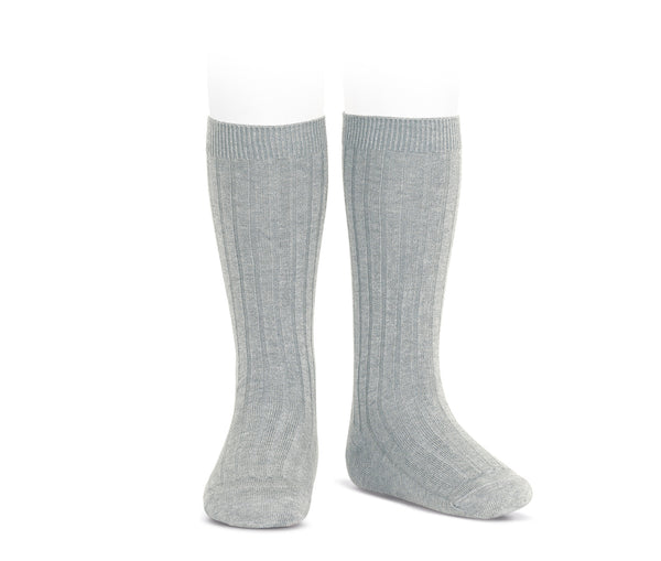 Condor Ribbed Knee High Sock Ash
