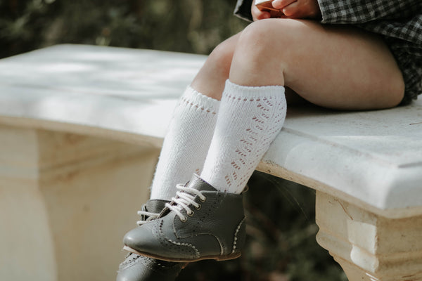 Condor Cream Openwork Socks