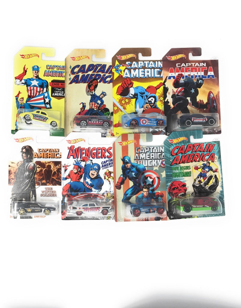 Captain America Hot Wheels Set