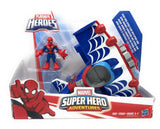 Marvel Super Hero Adventures Stunt Wing Spider Plane With Spider-Man