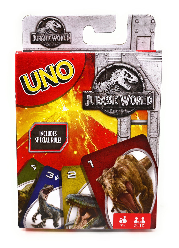 Jurassic World UNO Playing Card Game by Mattel Games