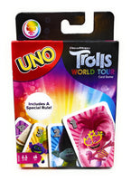 Dreamworks Trolls World Tour UNO Playing Card Game by Mattel Games