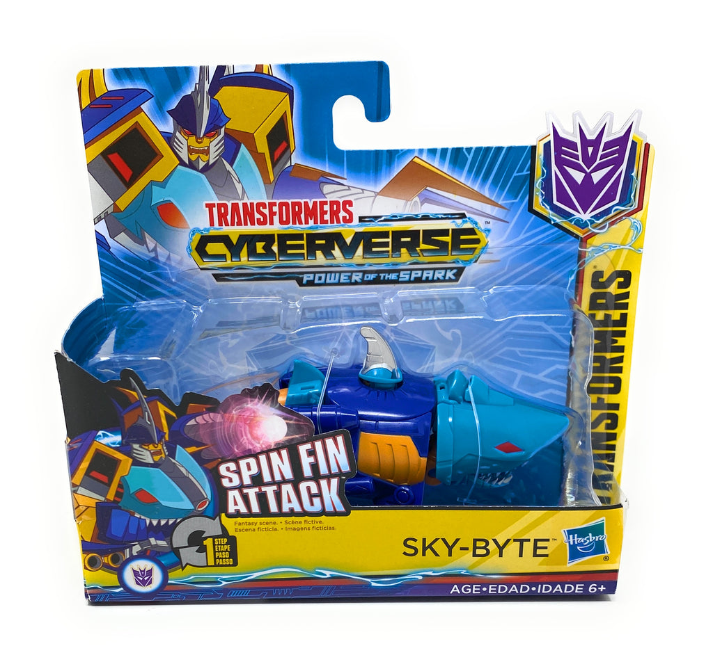Transformers Cyberverse Power of The Spark Spin Fin Attack Sky Byte
