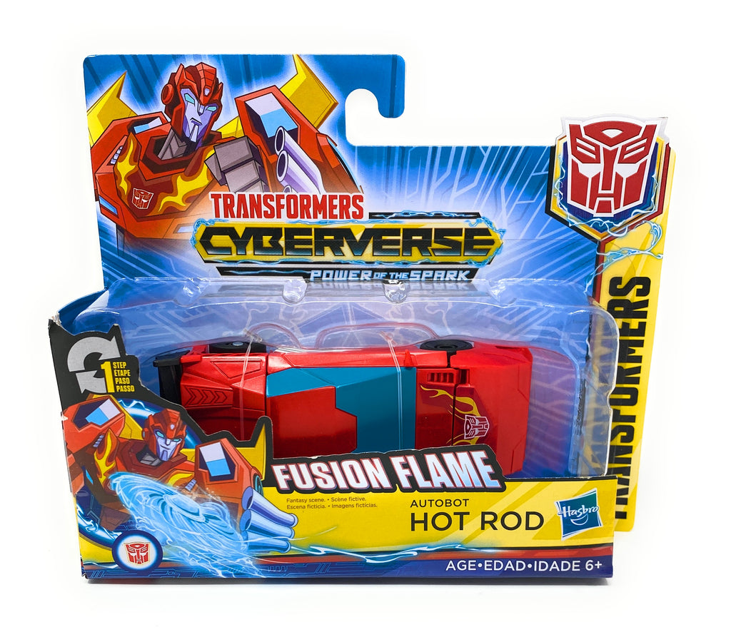 Transformers Cyberverse Power of The Spark Fusion Flame Autobot Hot Rod