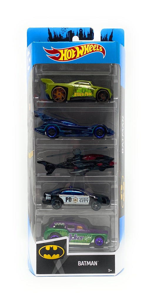 DC Comics Hot Wheels Set of 5 Batman Cars