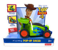 Fisher Price Disney Pixar Toy Story 4 RC & Woody Pop Up Racer