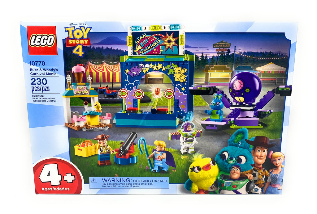 Disney Pixar Toy Story 4 Buzz and Woody's Carnival Mania Lego 230 Piece Set