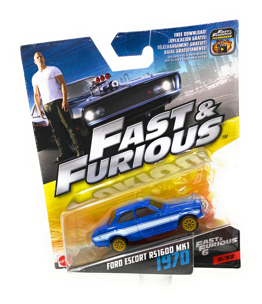 Hot Wheels 1970 Ford Escort RS1600 MK1 from the Fast and Furious set 6/32