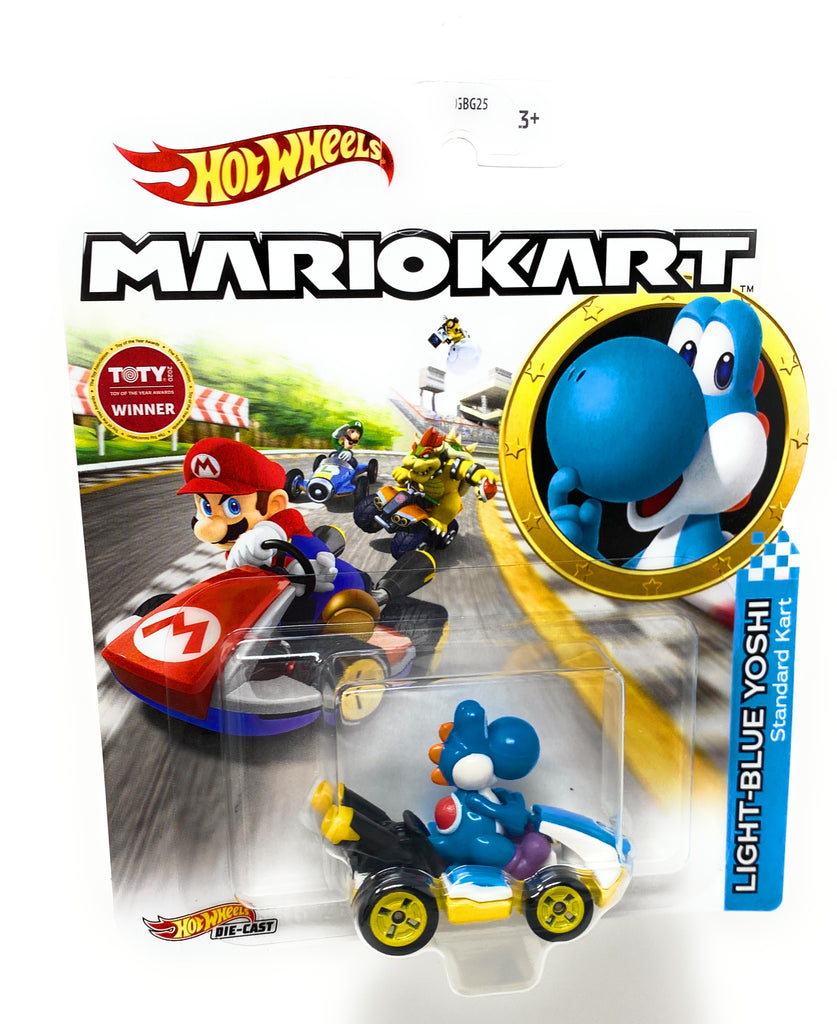 Hot Wheels Light Blue Yoshi, Standard Kart from the 2018 MarioKart set