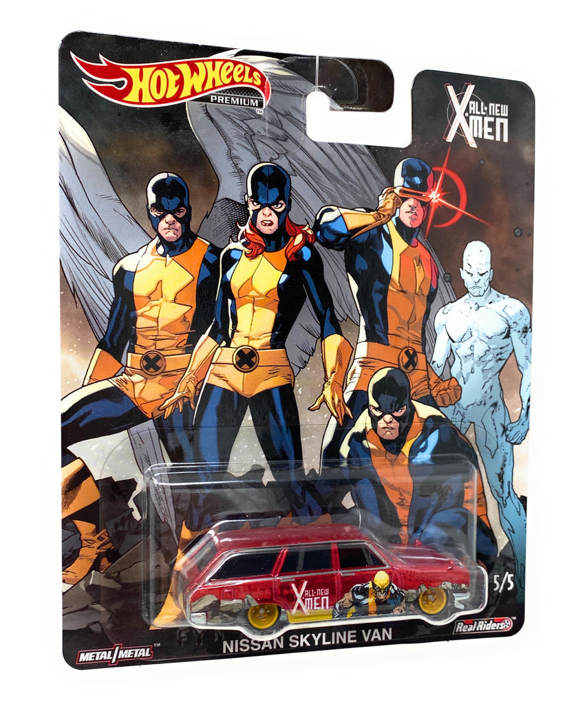 Hot Wheels Premium, Real Riders, Nissan Skyline Van from the X-Man set.5/5